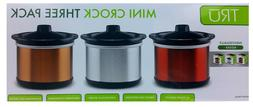 TRU 0.65-Quart Slow Cooker 3 Mini Crock Pots New and Factory