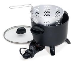 PRESTO 06006 Black Kitchen Kettle Multi-Cooker Steamer