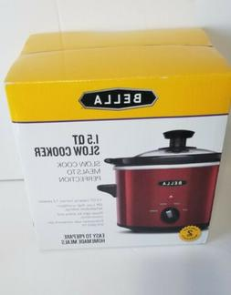 1.5 QT Bella Red Slow Cooker for Sauces  Brand New NIB