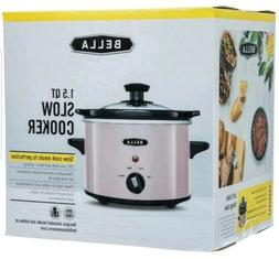 BELLA 1.5 QT PINK BLUSH SLOW COOKER PINK MATCHES COTTON CAND
