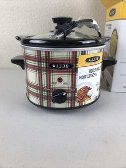 BELLA 1.5 Qt Quart Slow Cooker Crock w/Tempered Glass Lid Pi