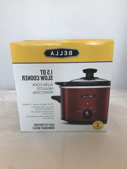 1.5 QT Bella Red Slow Cooker  - FREE SHIPPING