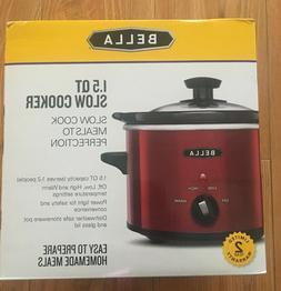 1.5 QT Bella Red Slow Cooker