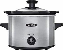 Bella - 1.5-qt. Slow Cooker - Stainless Steel