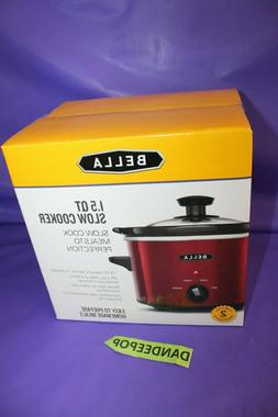 Bella 1.5 Quart Red Slow Cooker In Box Dinner Entertaining A