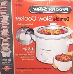 1.5 Quart Round Proctor Silex Crock Pot Slow Cooker Steamer