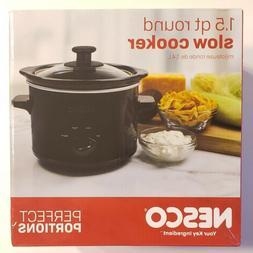 Nesco 1.5 Quart Round Slow Cooker Black Model #SCR-150-13 Ne