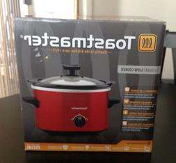 Toastmaster 1.5 quart slow cooker/ crock pot RED New in box