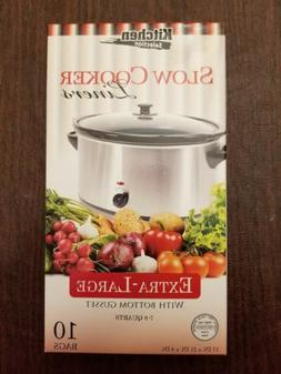 Kitchen Collection 10 Clear Crock pot Slow Cooker Liners 13""
