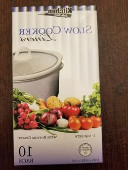 Kitchen Collection 10 Clear Crock pot Slow Cooker Liners 14""