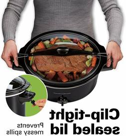 10 Quart Capacity Portable Slow Cooker With Lid Lock Extra-L