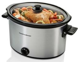 10 Quart Large Slow Cooker Crock Pot Stoneware Kitchen Appli