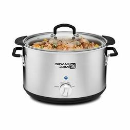 Magic Mill 10 Quart Slow Cooker 3 Manual Heat Settings Remov