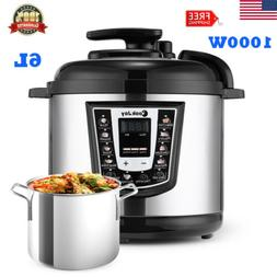 1000W 6L Multipurpose Electric Pressure Cooker Slow Cooker S
