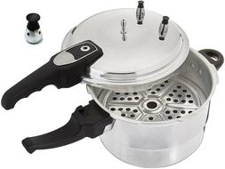Aluminum Pressure Cooker With Steamer Fast Cooker,4.2/5.2/7.