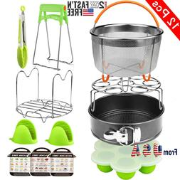 12 pieces Instant Pot Accessories Set Fits 6 qt 8 Quart Cook