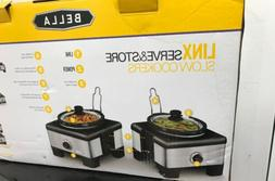BELLA 14013 Connectable Entertaining Slow Cooker System, Sta