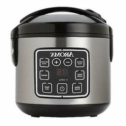 Aroma 16 Cup Digital Rice & Slow Cooker + Food Steamer 15 hr