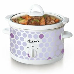 2.5 Quart Manual Slow Cooker Compact Dishwasher-safe Stonewa