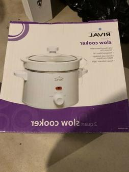 RIVAL 2 QUART STAINLESS STEEL SLOW COOKER