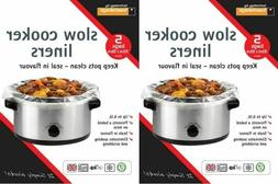 2 X Packs SLOW COOKER LINERS Packs of 5 For Round & Oval Slo