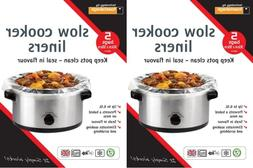 2 X Packs SLOW COOKER Liners Pk of 5 For Round & Oval Slow C