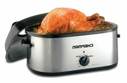 Chefman 20 Quart Roaster Oven Slow Cooker w/Window Viewing P