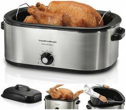 28 lb Turkey Roaster 22 Quart Oven Bake Roast Cook Slow Cook