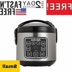2QT Rice Cooker Slow Mini Crock Pot Instant Small Aroma Rice