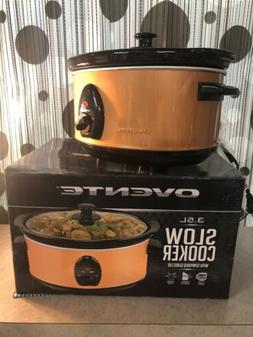 OVENTE 3.5L SLOW COOKER WITH TEMPERED GLASS LID SLO35A SERIE