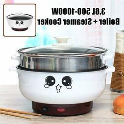 3.6L 1000W Electric Boiler Automatic Hot Pot Slow Cooker Ste