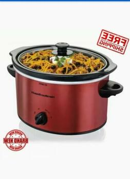 Hamilton Beach 3 Quart Slow Cooker | Model 33230 Red Crock P