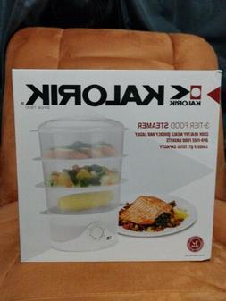 Kalorik 3 Tier Food Steamer, White, 1 ea