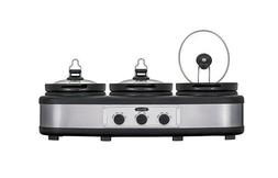 Bella - 3 x 2.5-Quart Triple Slow Cooker - Stainless Steel/B