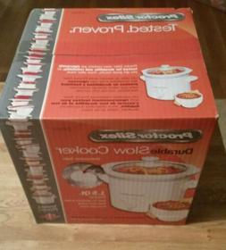 Proctor Silex 33015 Slow Cooker, White, New In Box