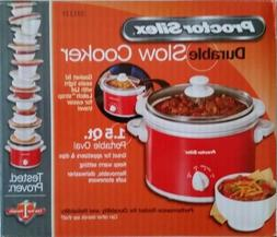 PROCTOR SILEX 33111Y RED 1.5 Qt. SLOW COOKER