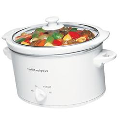 Proctor Silex 33275Y 33275 Oval Slow Cooker, 3 quart, White