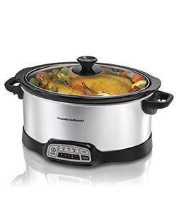 Hamilton Beach  Slow Cooker Crock with Touch Pad and Flexibl