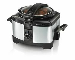 Hamilton Beach 33540A Connectables Slow Cooker, Silver, 4 qu