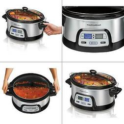 Hamilton Beach 33861 Programmable Slow Cooker, 6 Quart, Dual