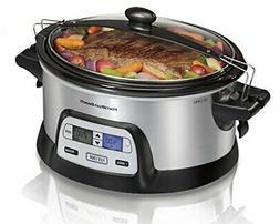 Hamilton Beach 33861 Programmable Slow Cooker, 6 Quart, Dual
