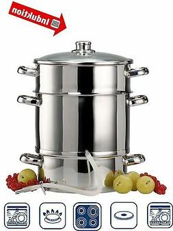 3pc Steamer + Juicer Steam Juice Stainless Stove Cook Vegeta