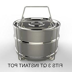 ekovana 3qt Mini Stackable Stainless Steel Pressure Cooker S