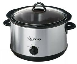 Crock-Pot 4.5 Quart Manual Slow Cooker, Silver SCR450-S