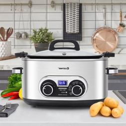 1PCS 4-in-1 6 Quart Stainless Multi Cooker Kitchen Appliance