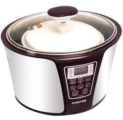 TIANJI 4-In-1 Smart Electric Stew Pot Ceramic Pot Slow Cooke