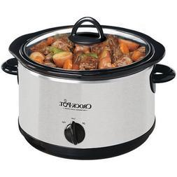 Crock-Pot 4-Quart Oval Slow Cooker SCR400-SP, Features Remov