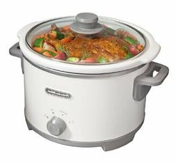 4 quart Round Slow Cooker with Glass Lid Removable Stoneware