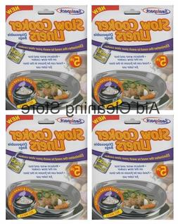 20 Sealapack Slow Cooker Liners Cooking Bags 4 x 5 Pack For