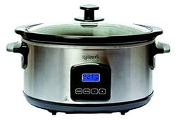 Prestige 46447 Digital Slow Cooker, 5.5 Litre, Silver